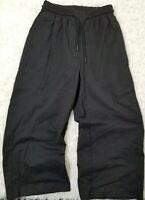Richer Poorer Revolve Black Sweatpants Joggers Wide Leg Pockets Small (DD4)
