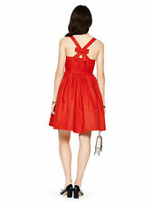 Kate Spade New York Tanner Cross Back Dress in Spicy Red - NWT *Size 4