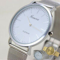 2016 Geneva Women's Watch Stainless Steel Band Analog Casual Quartz Wrist Watch