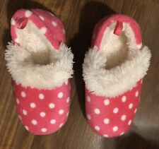 Girls Size 7/8 Pink Fuzzy Slippers