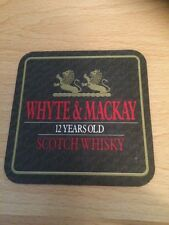 Whyte & Mackay Beer Mat - Drip Mat . 12 Year Old Whisky