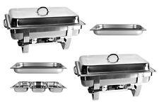 2 x Chafing Dish Speisewärmer 2x GN1/1+3x GN1/3 Warmbehälter Gastronomiebehälter