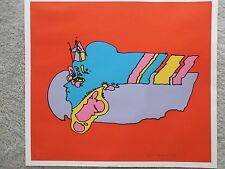 "Peter Max ""Remembering the Flight"" 1972 Hand Signed & Numbered Serigraph Vintage"