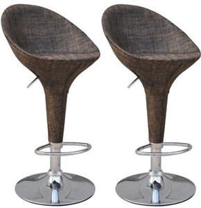 HOMCOM Vintage Wicker Rattan Style  Mesh Fabric Adjustable Swivel Bucket Seat Pa