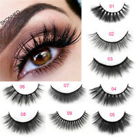 5 Pairs 3D Mink Hair False Eyelashes Wispy Cross Long Lashes Makeup Soft Hair Lw