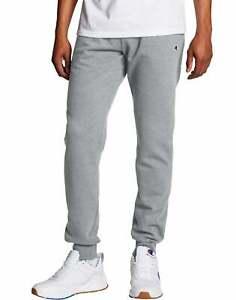 Champion Men's Sweatpants Jogger Powerblend Retro Fleece Lounge Pockets Athletic
