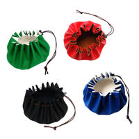 """Waterproof 15"""" Leather Drawstring Tinder Pouch   Camp Survival Tool"""