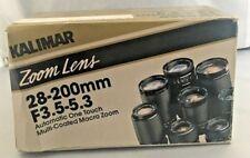 Kalimar 28-200mm F3.5-5.3 MC Macro Zoom Lens New W/Box