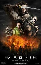 47 Ronin DOUBLE SIDED ORIGINAL MOVIE film POSTER Keanu Reeves Samurai One Sheet