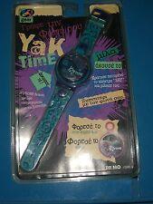 1996 VINTAGE YAK TIME YES!  KIDS WRIST WATCH FLIP TOP MINT GREEK NEW