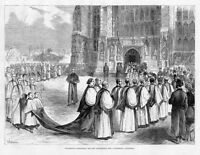 PROCESSION CONDUCTING THE NEW ARCHBISHOP INTO CANTERBURY CATHEDRAL ARCHITECTURE