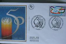 ENVELOPPE PREMIER JOUR SOIE 1995 LES NATIONS UNIES