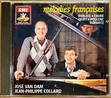 EMI DIGITAL Melodies Francaises VAN DAM COLLARD (CD 1989 W. Germany) CDC-7-49288