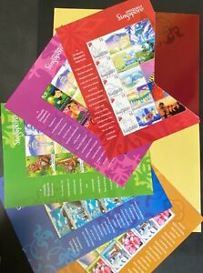 SINGAPORE 2005 UNIQUELY MYSTAMP Personalized  issue  Complete Series of 5 Sheets