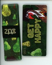 ZOX GOLD Strap GET HAPPY Wristband with Card Reversible