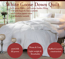 SUPER KING 4BLK WARMTH 50% WHITE GOOSE DOWN Feather QUILT/DOONA/DUVET ALL SEASON