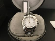 Pre-owned TAG HEUER LINK Mother Of Pearl Diamonds Quartz,Ladies++Extra links