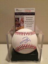 George Springer Signed ROMLB w/ JSA Houston Astros 2017 WS MVP STAR MLB