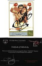 Manny Pacquiao Allen & Ginter Boxing #262 Signed Auto Card Team Pacman COA