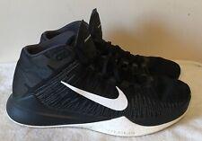 reputable site f28b9 f68b4 Mens Nike Zoom Ascention Basketball Shoes sz  14 Black White Gray 832234-001