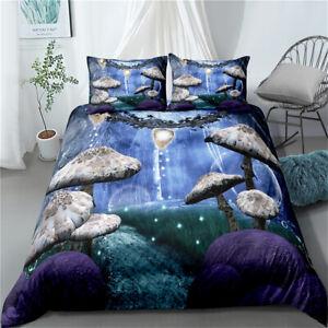 Mushroom Stone Duvet Quilt Cover Set Pillowcase Single Double King Super King