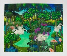 "JOSE CARLOS RAMOS ""LAKE IN THE FOREST"" Hand Signed Limited Edition Art Serigraph"