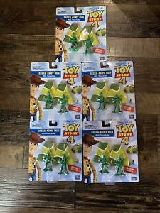 Toy Story 4 Green Army Men With Working Parachutes New Disney Lot Of 5 Packs