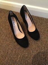 Clarks Ladies Black Wedge Court Shoes Size 6 D