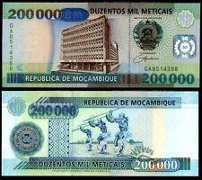 MOZAMBIQUE 200,000 200000 METICAIS 2003 P 141 UNC
