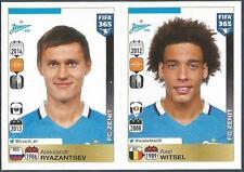 PANINI-2016 FIFA 365- #753-754-ZENIT SAINT PETERSBURG-A RYAZANTSEV-AXEL WITSEL