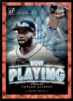 2020 Donruss Now Playing Red #NP4 Yordan Alvarez /149 - Houston Astros