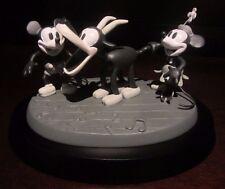 RARE Disney LE Steamboat Willie Mickey Mouse Minnie Black & White Figure Statue