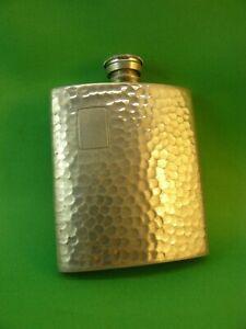 3 oz Hip Flask ~ KIRRA AUSTRALIAN FINE PEWTER ~ Hammered 1970s
