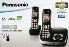 Panasonic KX-TG 6522 GB Schwarz Duo DECT Set NEU Schnurlostelefon KX-TG6522
