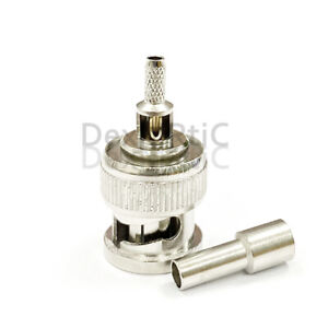 1PC BNC Male RF Coax Coaxial Connector For CCTV camera crimp for RG316 cable