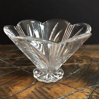 Marquis By Waterford Lead Crystal Candy Dish & Nut Bowl Scalloped Edges Signed
