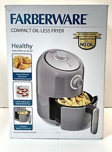 Farberware 1.9 Quart Compact Oil-Less Rapid Air Fryer Versatile Cooking Grey New