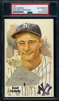 Lou Gehrig PSA DNA Coa Signed Perez Steele Cut Postcard Autograph