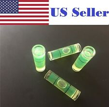 4 PCs 9.5x34mm Transparent Bubble Spirit Level for Camera Tripod Measuring Tool