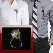 Pewter panda pp-a40 Brooch drop hoop Holder For Glasses , Pen , ID jewellery