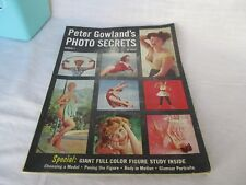 1958 Peter Gowland's Photo Secrets Photography magazine # 1  issue nude pin-up