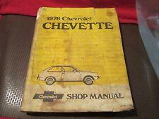 CHEVROLET SERVICE REPAIR MANUAL 1976 CHEVETTE SHOP MANUAL GM 76 OEM