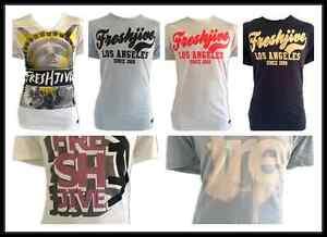 FRESHJIVE  Mens Premium Crewneck T-Shirt / Tshirt  / Tee / Top -Rrp: $49.99