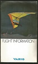 Brochure Varig Airlines + Map Of Route +Cover + Entreteiment Book 1981