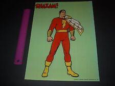 DC COMICS RETRO SHAZAM CAPTAIN MARVEL POSTER PIN UP