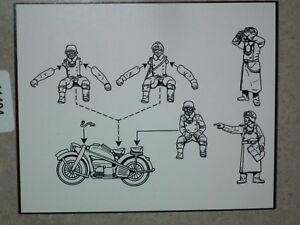 Chapeau 1/72 Echelle WWII Allemand Motocyclettes Modèle Kit - Contient 1 Sprue -