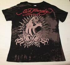 Ed Hardy Chistian Audigier T-Shirt Sz Kinder XL