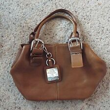Tignanello Small Brown Leather Clutch Purse Handbag - Very Nice