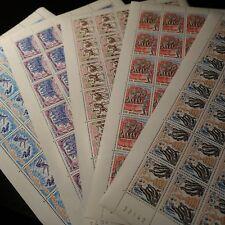 FEUILLE SHEET MONACO N°1167/1171 x30 FESTIVAL DU CIRQUE NEUF ** MNH COTE 390€