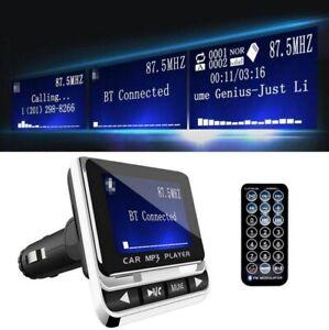 Transmetteur FM sans fil Bluetooth 4.1 Adaptateur MP3 Kit voiture Chargeur USB